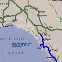 2014 Alaska Caravan map