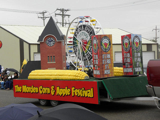 A float at the Morden, Manitoba, Corn and Apple Festival parade.