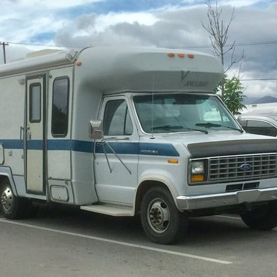 This 1988 Vanguard Class C motorhome was spotted in a local parking lot.