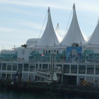 The distinctive sails of Canada Place, which houses the Vancouver Convention Centre and the Pan Pacific Hotel Vancouver, make it easy to spot.