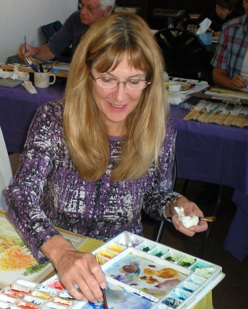 Trish Van Deventer  takes drawing and painting classes at the Mesquite Fine Arts Gallery