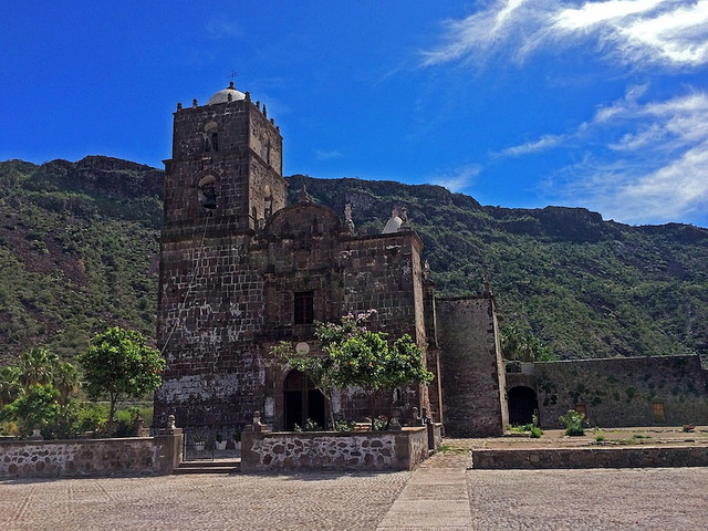 Mission San Javier—a beautiful stone mission considered to be the crown jewel of all of the remaining Baja missions.