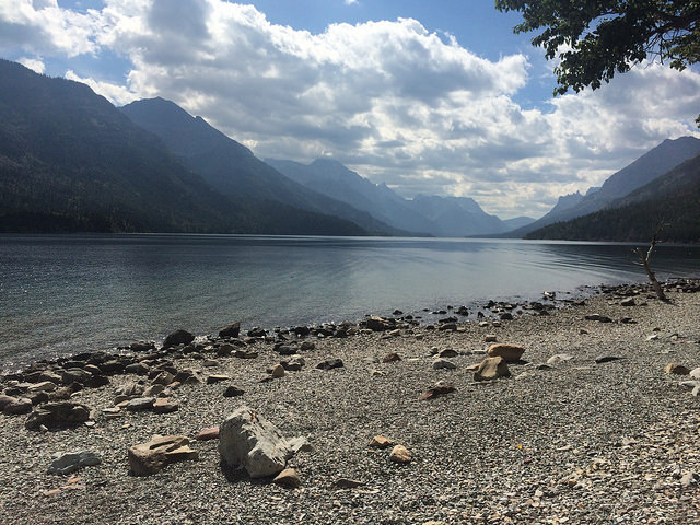 A view of Waterton Lake, looking south.
