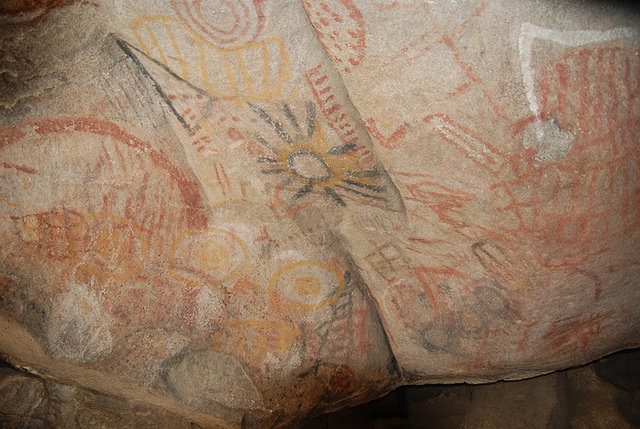 Cave paintings and rock art abound on the Baja peninsula.