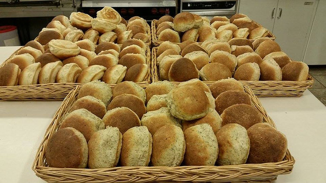 Fresh buns just out of the oven.