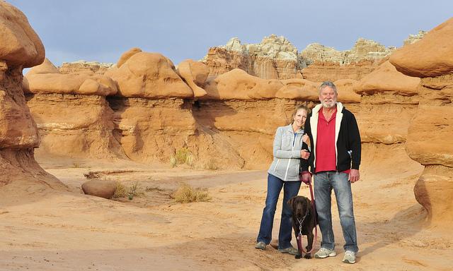 Wendy and Ron overlooking Goblin Valley in Utah.