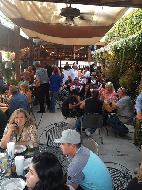 One of Rubias main attractions, along with microbrewery beer and traditional Mexican fare, is its spacious outdoor patio.