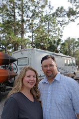 Ben and Rebecca Pazdernik and their rig, Nellie.