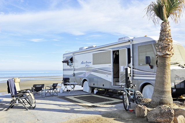 One of Wendy and Ron's previous RVs in Club de Pesca, San Felipe, Mexico.