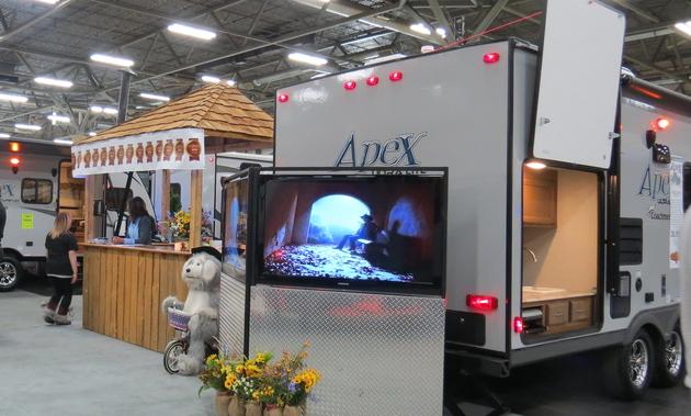 RVs at the Edmonton expo