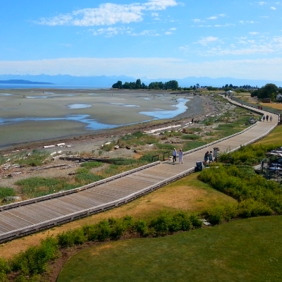 Qualicum Beach resides on a 19-kilometre stretch of sandy shores.