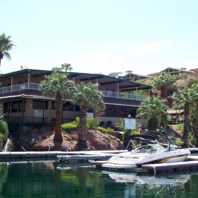 The Springs Dining at Havasu Springs Resort has some of the most breathtaking views of lower Lake Havasu.