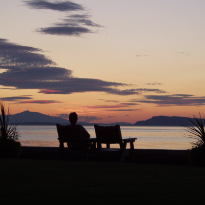 Qualicum Beach at sunset