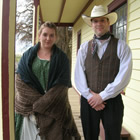 Interpreters in period clothing at the Historic Hat Creek Ranch.