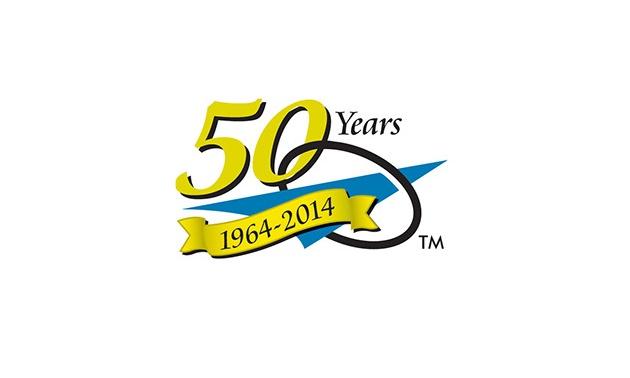 Logo of Progressive Dynamic's 50 years.