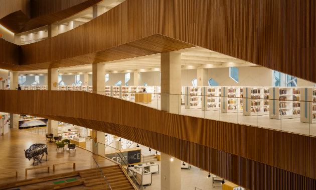 Calgary Central Library's interior is vast.