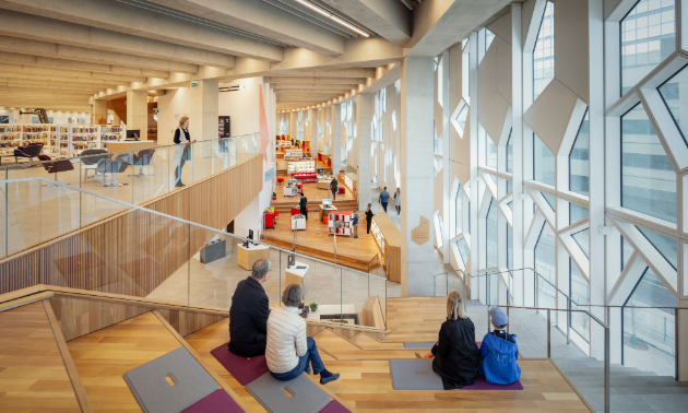 There's plenty to see and do inside Calgary Central Library.