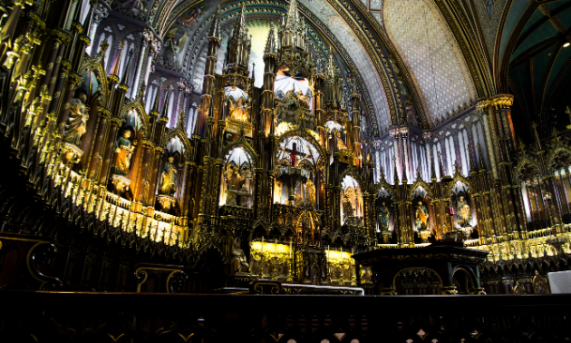 Full-time RVers get to explore some of Canada's most immaculate architecture, like this cathedral in Montreal.