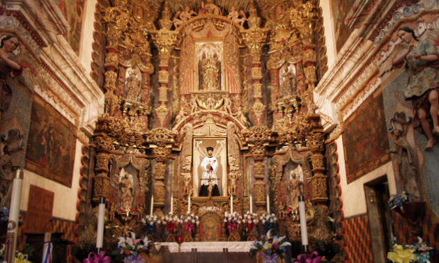 The Mission San Xavier del Bac alter is a sight to behold, preferably in person.