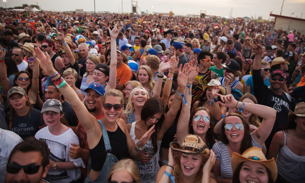 The Big Valley Jamboree crowd is partying