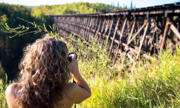 The old trestle at Pouce Coupe