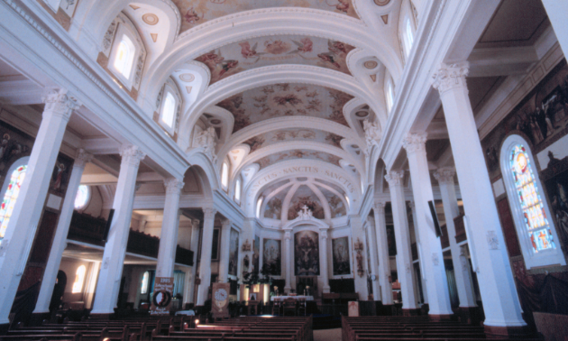 The Gravelbourg co-cathedral is filled with paintings by French-born parish priest Father Charles Maillard.