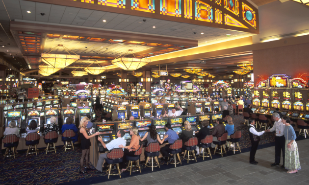 Patrons gamble at the Pala Casino Resort and Spa.