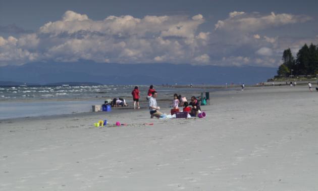 The sandy paradise of Qualicum Beach