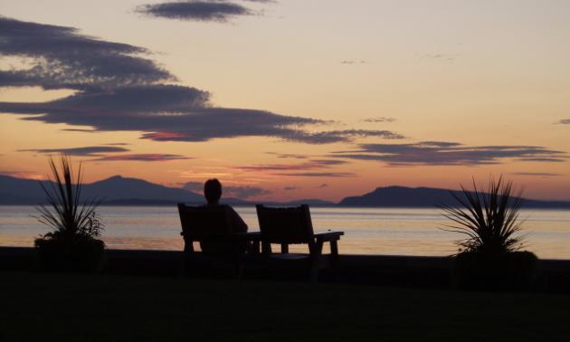 Qualicum Beach at sunset