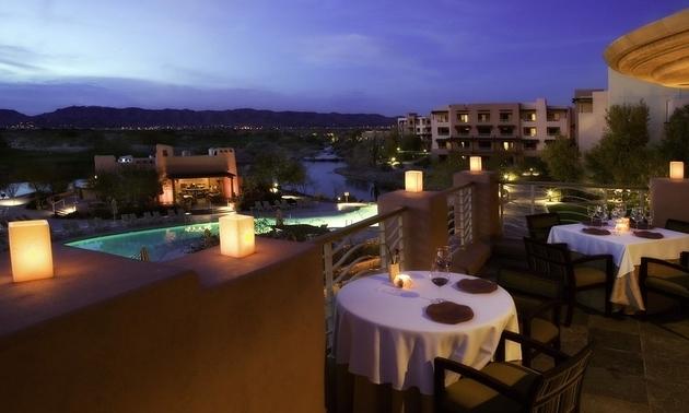 arizona sunset at a restaurant
