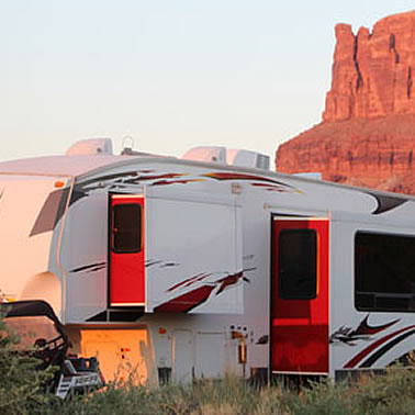 RV set up for camping fun