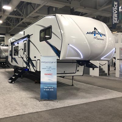 Coachmen RV's first-ever Adrenaline Fifth Wheel, outfitted with innovative products from ASA Electronics.