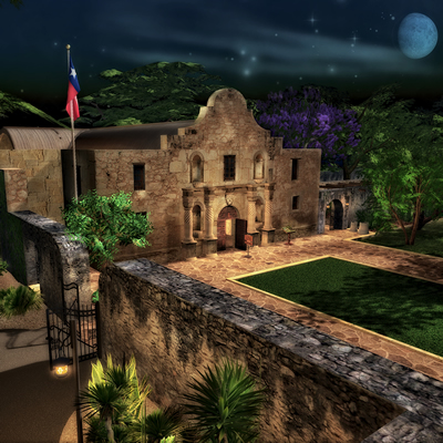 The Alamo historical site in San Antonio, Texas