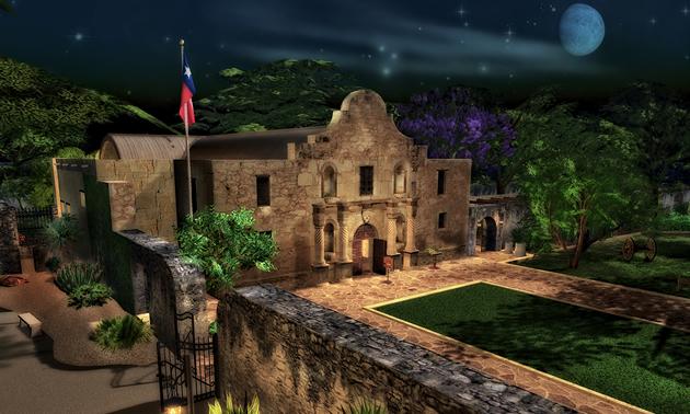 The Alamo historical site in San Antonio, Texas