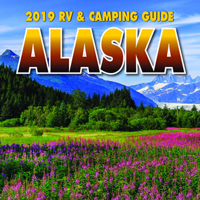 The cover of the 2019 Alaska RV & Camping Guide.