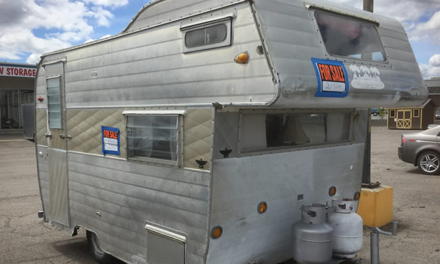 An Aloha trailer, spotted in a consignment lot.