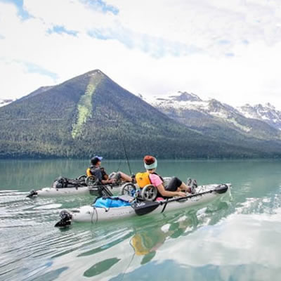 Working with Camping and RV in BC, the Angler's Atlas website has matched nearby campgrounds with fishing destinations.