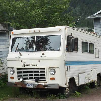 A vintage Haico Aquarius motorhome, spotted in Nelson, B.C.