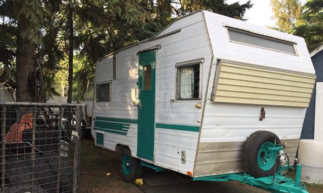 An Aristocrat travel trailer, owned by Ken Vanderburg.