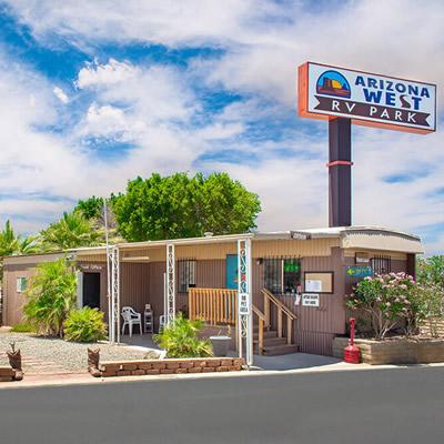 Office at Arizona West RV Park.