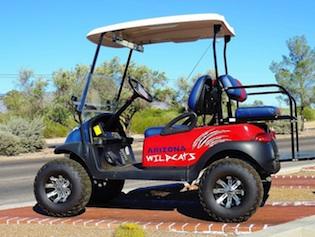 Club Cart with University of Arizona colours.