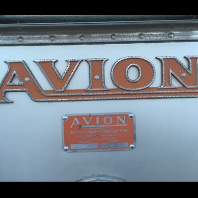 Close-up picture of Avion logo.