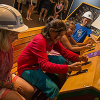 The kids interactive area at BC Hydro Stave Falls Visitor Centre