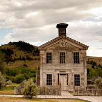 The old school building at Bannack State Park.