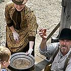 Gold panning demonstration in Barkerville