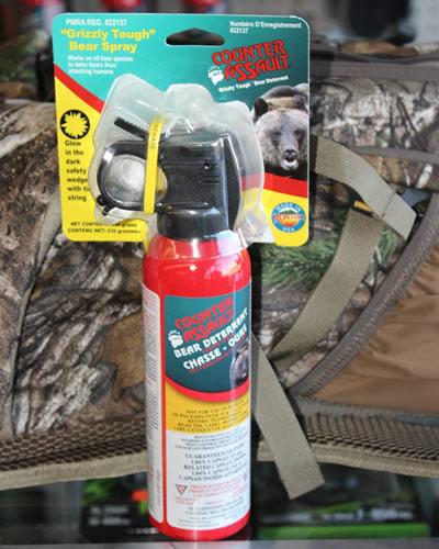 Canister of bear spray