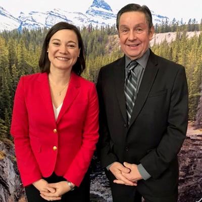 Dan Merkowsky of RVDA of Alberta and Alberta Environment Minister Shannon Phillips