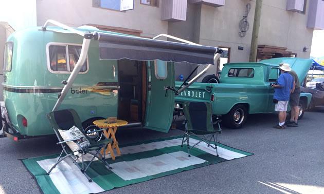 Fully restored 1979 Boler trailer and 1962 Chevy pickup truck