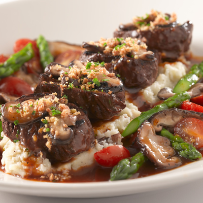 Steak medallions and seasonal veggies at the Cheesecake Factory in Anaheim