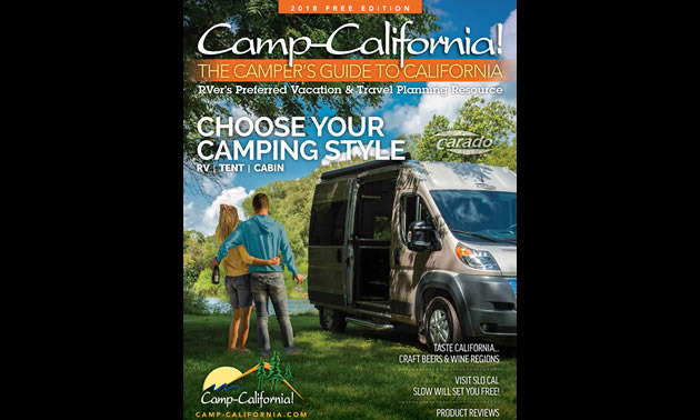 Cover of the 2018 Camp California guide.